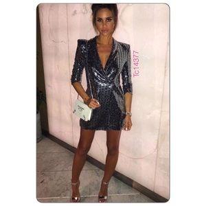 c6798f2e Zara Dresses | 1 Left Nwt Metallic Sequins Blazer Dress | Poshmark